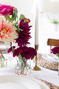 A Simple and Vibrant Mother's Day Table Setting - A Burst ...