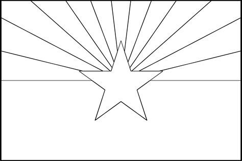 arizona state colors arizona flag printout