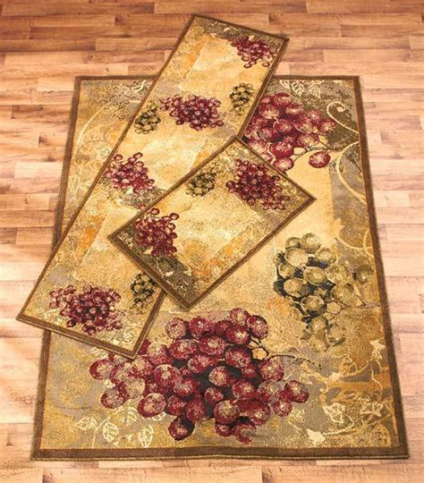 grape themed decorative rug runner kitchen dining room
