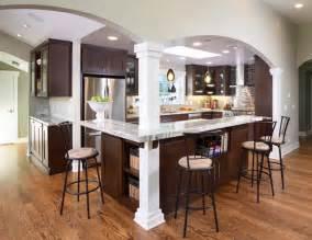kitchen islands with columns contemporary kitchen