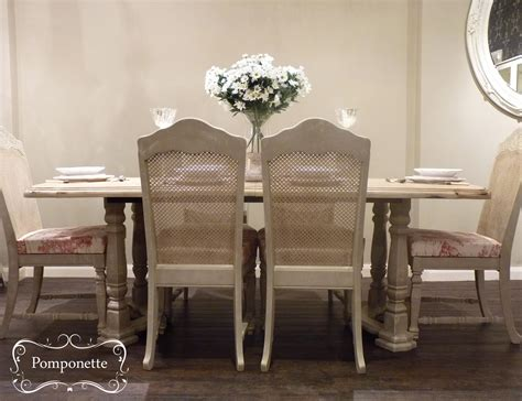extendable dining table and six chairs by pomponette