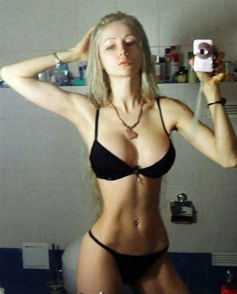 valeria lukyanova bikini selfie makeup   sort  hot  hollywood gossip