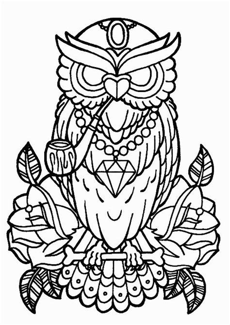 Pin by Polina Polly on owls | Owl coloring pages, Rose