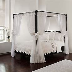Sheer Bed Canopy Curtains In White  Bed Bath & Beyond