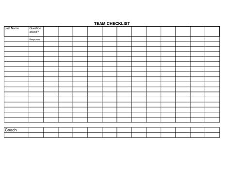 Blank Checklist Template Word
