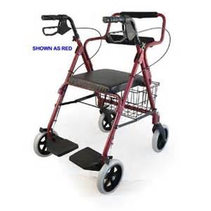 combination blue rollator transport wheelchair at
