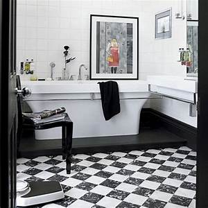 51 cool black and white bathroom design ideas digsdigs for Pictures of black and white bathrooms