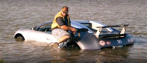 Bugatti Into Lake by Bugatti Veyron Lake Crash Driver Faces 20 Years For