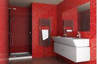 red bathroom ideas Intensive Red Bathroom Design Ideas [PHOTOS]