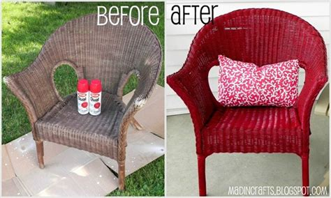 painting wicker furniture on spray paint
