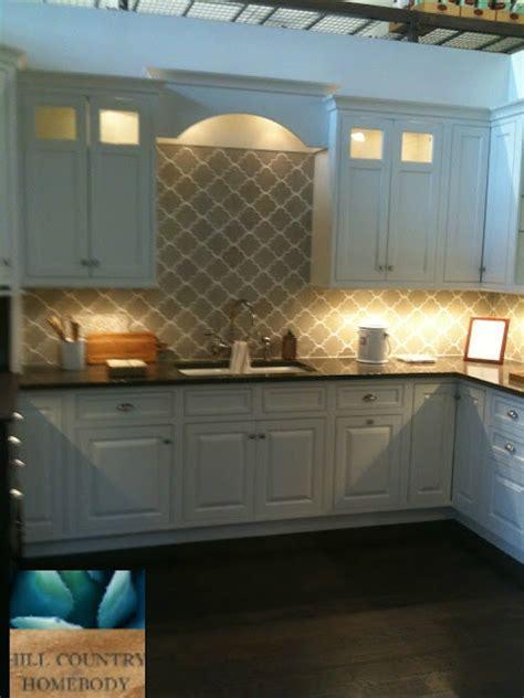 Hill Country Homebody white kitchen, Arabesque Tiles
