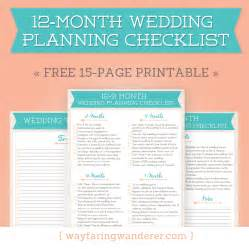 printable wedding checklist timeline wayfaring wanderer 12 month wedding planning checklist free timeline printable pdf