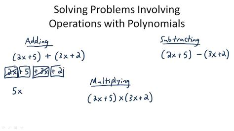 Addition And Subtraction Of Polynomials Worksheet  Addition And Subtraction Of Polynomials