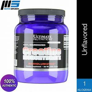 Ultimate Nutrition 100  Micronized Creatine Monohydrate  Unflavored