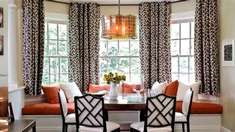 how to drape a bay window bay window curtain rod ideas
