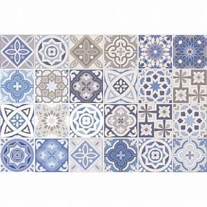 Stickers Carreaux De Ciment : 24 stickers carreaux de ciment honduras salle de bain et ~ Melissatoandfro.com Idées de Décoration