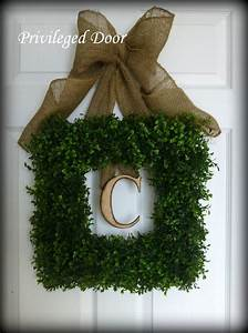spring wreath easter wreath boxwood wreath square faux With faux boxwood letters