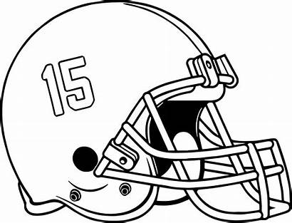 Football Coloring Helmet Pages Alabama Drawing College