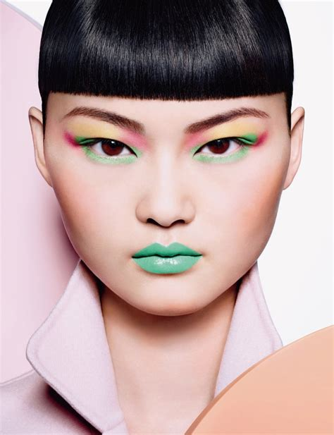 pop of color makeup he cong models a pop of color for magazine