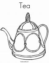 Tea Coloring Teapot Cup Pages Colouring Drawing Pot Twistynoodle Coffee Line Noodle Printable Sheets Party Adults Communitea Decorative Template Patterns sketch template