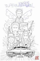Coloring Pages Winchester Supernatural Spn Castiel Tv Books Adult Journal Sheets Everybody Dean Sam Malbuch Series Fuers Malboegen Tipps Zeichnen sketch template