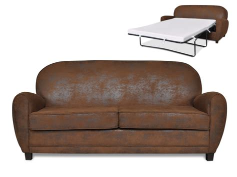canapé en cuir vieilli canapé 3 places convertible microfibre vieillie ricky