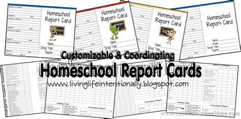 homeschool report card printables  homeschool