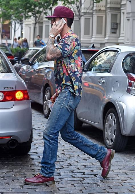 adam new york adam levine in behati prinsloo spotted out in new york