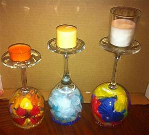 wine glass candle holder design decoration With kitchen colors with white cabinets with red glass votive candle holders