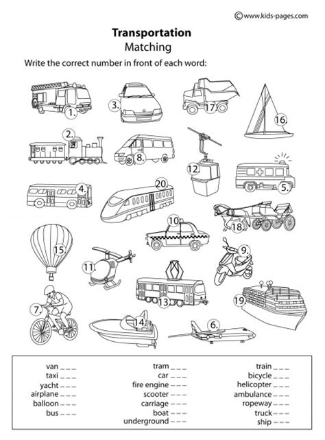 Transportation Worksheet Free Worksheets Library  Download And Print Worksheets  Free On