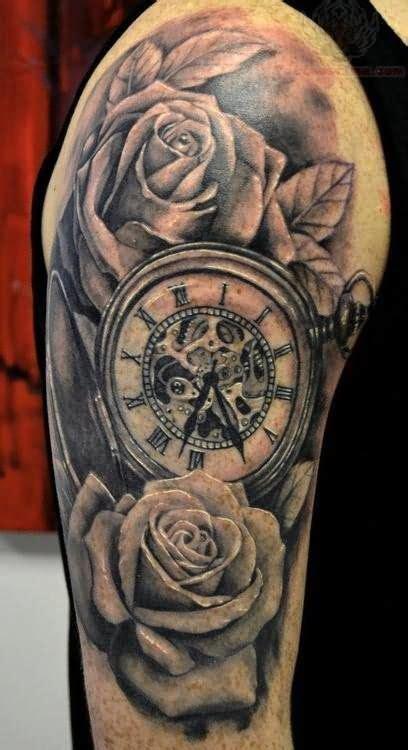 clock tattoos ideas  pinterest time piece tattoo compass thigh tattoo  arm