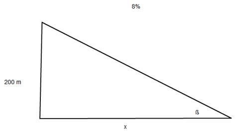 horizontalentfernung berechnen strasse mit einem gefaelle