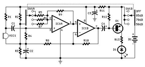 How Build Room Noise Detector Circuit Diagram