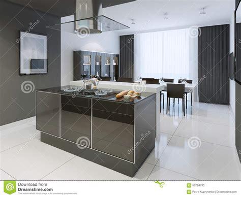 cuisine stock style moderne de cuisine et blanche image stock