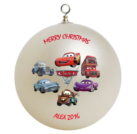Personalized Cars Christmas Ornament Gift Ornaments