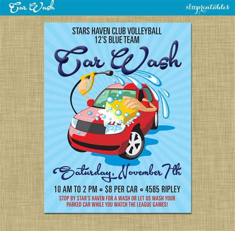 A car wash themed flyer template can easily help you in creating eye catching flyer templates for your car wash service. Car Wash Flyer / Fundraiser Church School Community Sports