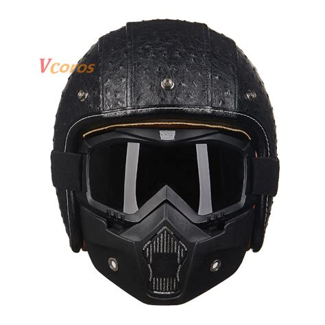 vintage motocross helmet popular leather scooter helmet buy cheap leather scooter