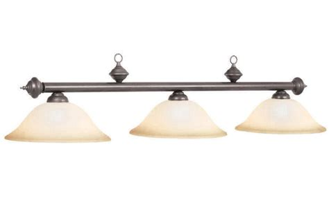 rubbed bronze pool table light