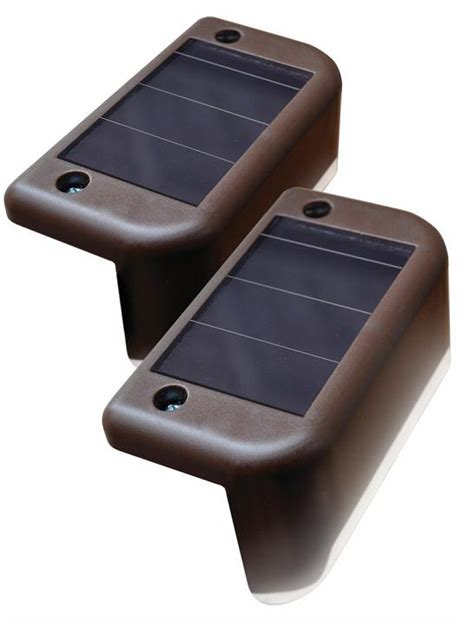 solar step lights solar powered led stair lights four pack