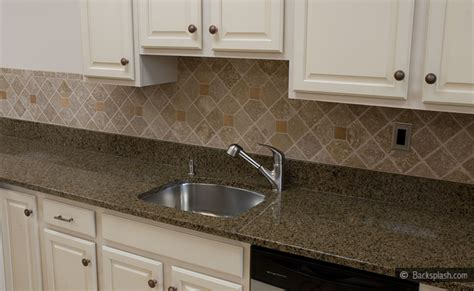 Tan Kitchen Backsplash : Tropic Brown Countertop Travertine Backsplash Tile