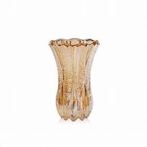 Golden glass vases decorative flower vases wholesale
