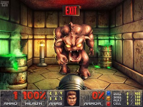 Classic Doom Screenshot Undergoes 8 Day Hd Remaster In