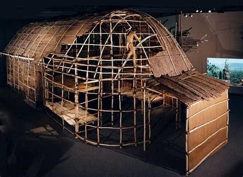 mohawk iroquois longhouse   york state museum