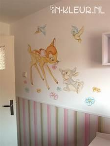 Kinderzimmer Für Babys : bambi muurschildering in kleur wandschilderingen pinterest babyzimmer kinderzimmer und ~ Sanjose-hotels-ca.com Haus und Dekorationen
