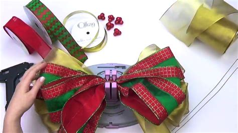 bow genius christmas tree topper  small bows diy