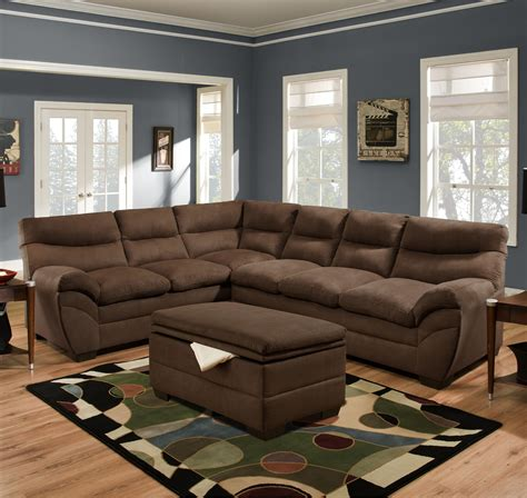 Simmons Upholstery 9515 Casual Sectional Sofa