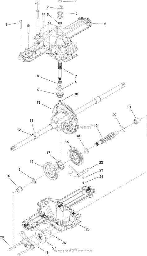 toro axrg lx lawn tractor  sn lb parts diagram  single speed