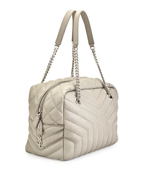 loulou monogram  quilted medium bowling bag