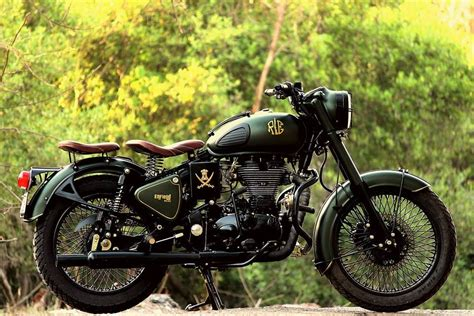 Modification Royal Enfield Bullet 350 by Royal Enfield Modified Troy By Jedi Customs Modified
