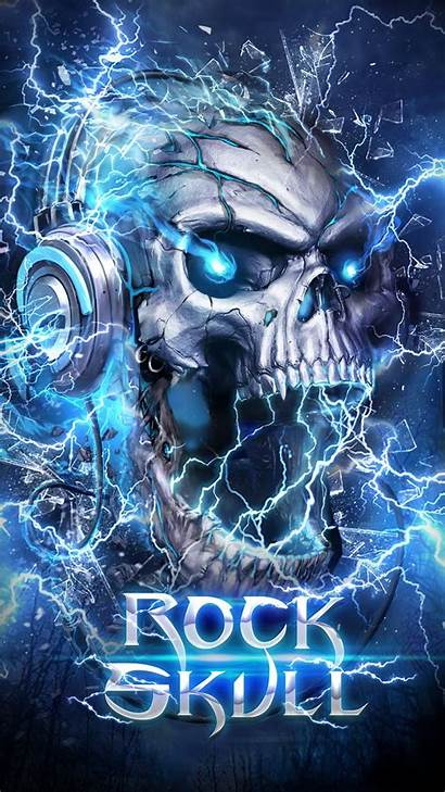 Skull Electric Wallpapers Android App Phone Apk